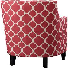 pleasant red patterned accent chair about remodel office chairs