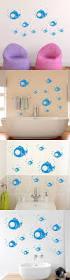 best 25 bubble fish ideas on pinterest paper fish j zee and cute diy 10pcs spit blue bubble fish wall stickers bathroom tile glass sticker children room kids gifts home decoration