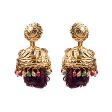 lotan earrings delightful small lotan jhumki earrings designer earrings