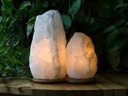himalayan light salt crystal l fair trade rare white himalayan crystal salt ls set of 2 so
