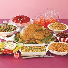 thanksgiving dinner on table top thanksgiving
