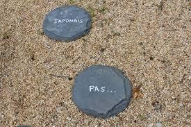 pas japonais en pierre naturelle petits pas japonais en ardoise anciens