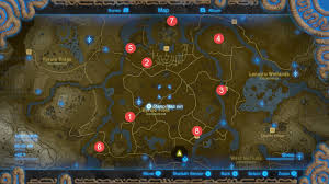 Wind Waker Map The Legend Of Zelda Breath Of The Wild All Shrine Locations