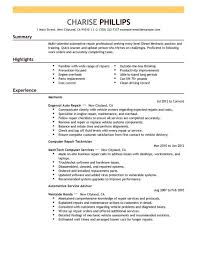 mechanic resume template cover letter how to write a resume no