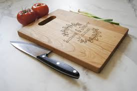 personalized cutting board with handle engraved cutting board