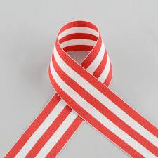 striped grosgrain ribbon 1 5 white striped grosgrain ribbon 25 yards 25103 065
