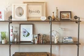 How To Make A Pipe Bookshelf Insideways Pipe Shelf Remix