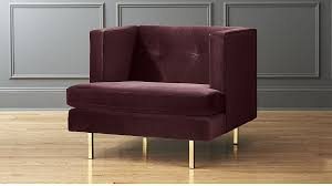 Purple Armchair Contemporary And Modern Chairs Accent And Armchair Cb2