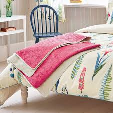 sanderson home floral bazaar bed throw