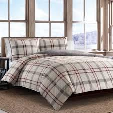 Plaid Bed Set Modern Plaid Bedding Sets Allmodern