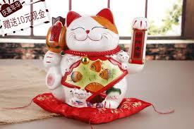 2017 ceramic handle large cat ornaments shop opened birthday