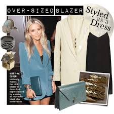 trending over sized blazers styled as a dress polyvore