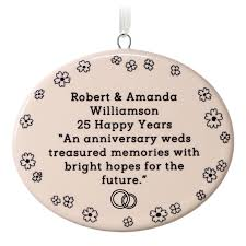 1 sided oval ceramic personalized ornament text only