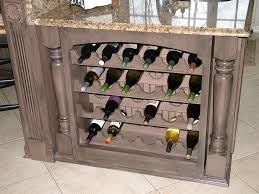 kitchen wine rack ideas simple mist grey color wooden kitchen island with wine rack with