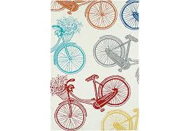 3 X 5 Indoor Outdoor Rugs Bicycle Adventure Ivory 3 X 5 Indoor Outdoor Rug Rugs Beige
