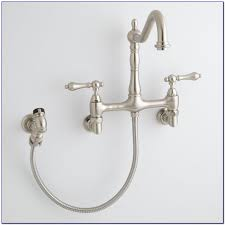 wall mount kitchen faucets with sprayer wall mount kitchen faucet with pull sprayer