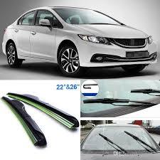 honda civic wipers 2017 26 22 front windscreen windshield wiper blades rubber
