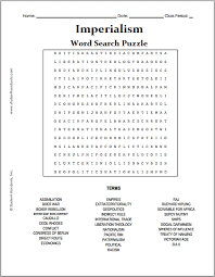 imperialism free printable word search puzzle student handouts