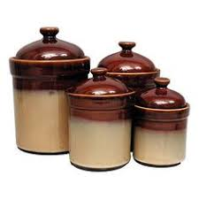 brown kitchen canister sets sango avanti brown set of 4 canisters shop of and products