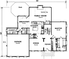 colonial style house plan 4 beds 2 50 baths 2613 sq ft plan 41 162