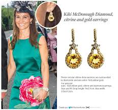 mcdonough citrine drop earrings pippa middleton by mcdonough diamond citrine and gold