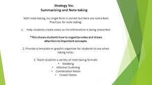 strategy six summarizing and note taking summarizing sorting