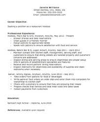 resume examples for hostess create my resume training manager