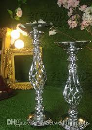 Chandelier Centerpieces Wedding Table Flower Holder Decor Metal Crystal Stand Candelabra