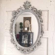 Bathroom Mirror Vintage Mirror Glass Oval Shaped Wall Mirrors Beveled Bathroom Mirror Wood