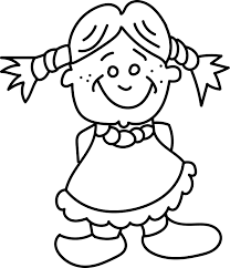 kid smiling kids coloring page wecoloringpage