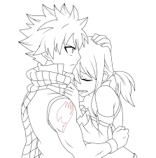 fairy tail movie lineart natsu and lucy by natsu9555 on deviantart