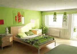 bright green striped blanket simple wooden bed frame brown wooden
