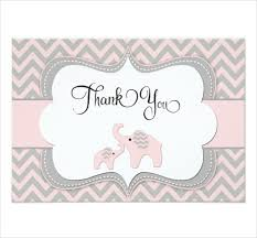 baby shower thank you cards 8 baby shower thank you cards design templates free