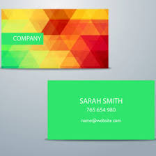 colorful business card template 10000 dryicons