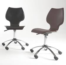 Leather Chairs Office Furniture Office High Two Tones Leather Chair With Wooden Arms