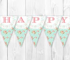 Vintage Birthday Decorations Items Similar To Shabby Chic Birthday Banner Vintage Pearls And