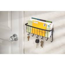 Entryway Wall Organizer Interdesign Axis Mail Letter Holder Key Rack Organizer For