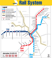 Dallas Terminal Map by Light Rail And Fized Guideway Systems In The Dallas Fort Area
