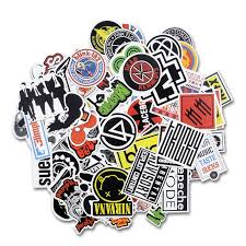amazon com laptop stickers 100 pcs bezgar car motorcycle amazon com laptop stickers 100 pcs bezgar car motorcycle bicycle luggage decal graffiti skateboard stickers for laptop bumper rock and roll music