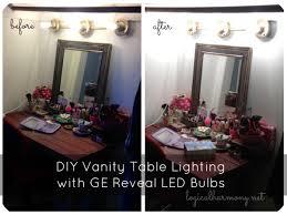 table sweet makeup table light zamp co vanity lighting ideas diy