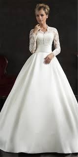 robe de mari e satin manches longues robes de mariée musulmane arabe robe birde 2015