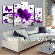 abstract handmade painting modern contemporary 5pcs purple design 100 handmade modern abstract