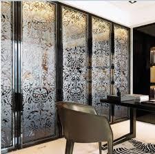 Decorative Glass Doors Interior Folding Home Decorative Stained Glass Interior Doors For Wardrobe