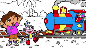 dora coloring book pages dora the explorer coloring page 6 dora and boots looking at