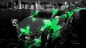 Audi R8 Green - audi r8 neon flowers fantasy city 2013 el tony