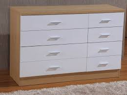 high gloss 8 drawer chest 4 4 bedroom furniture black cream