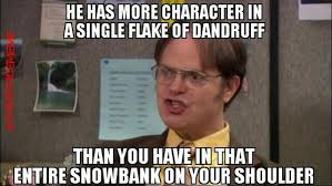 Flake Meme - the office meme on twitter describe michael scott in a sentence