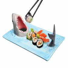 ceramic serving platter shark attack ceramic sushi soy sauce serving platter the green