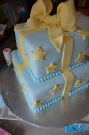 star and moon themed baby shower cake baby stars u0026 moons