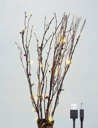 twig tree with lights amazon com lightshare 36inch 16led natural willow twig lighted